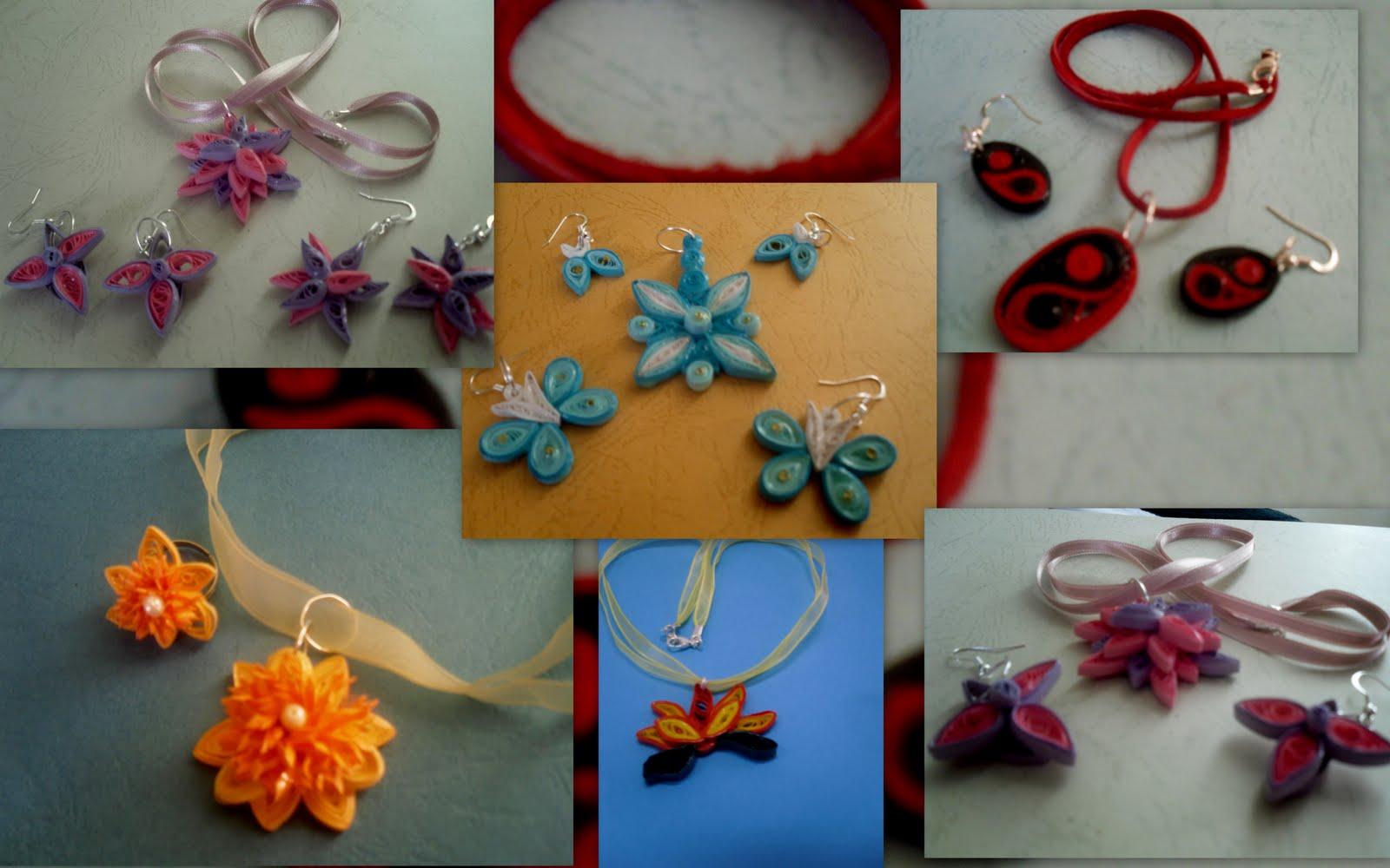 Bijuterii finalizate care au fost daruite cu mare drag