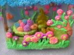 Cutie decorata cu spuma modelatoare
